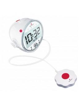 Réveil Bellman 1370 à flashs lumineux vibrations et forte amplification pour sourds et malentendants