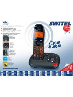 Téléphone répondeur sans fil pour malentendant 30/80 dB Vita DC 50071