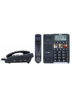 Téléphone pour sénior suramplifié avec boutons photo d'appel direct grandes touches