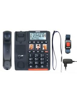 Téléphone pour personnes âgée avec bouton d'appel urgence en bracelet ou tour du coup