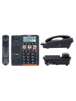 téléphone pour sénior à forte amplification avec bouton d'urgence SOS
