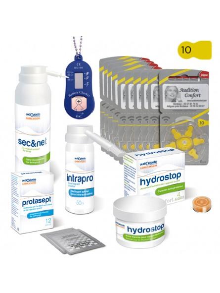 pack de piles 10 et produits pour appareils de type contour d'oreille