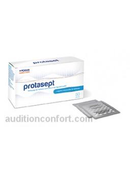 pack avec lingettes de nettoyage pour appareil auditif protasept