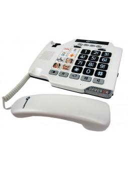 téléphone fixe pour malentendants avec photos