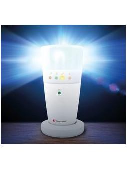 avertisseur lumineux d'alerte (porte, cri bébé, sonnette, téléphone) pour sourds et malentendant
