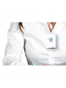 bouton poussoir d'alerte pour sourds et malentendants compatible avec flashs lumineux et vibreurs