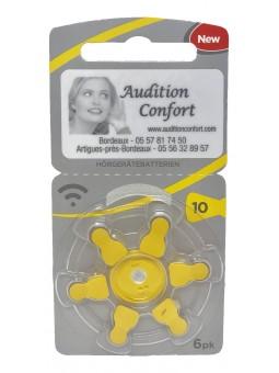 piles 10 RAYOVAC pour appareils auditifs