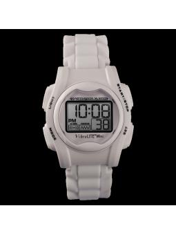 montre avec alarmes à vibrations blanche