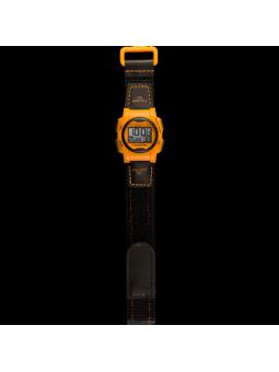 montre vibrante orange et noire pour petit poignée sourd et malentendant