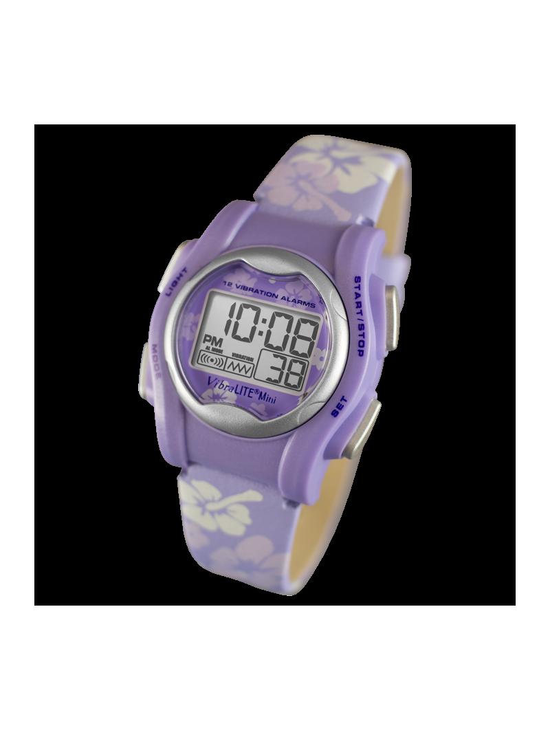 Vibralite Mini violette montre vibrante pour sourd et  malentendant
