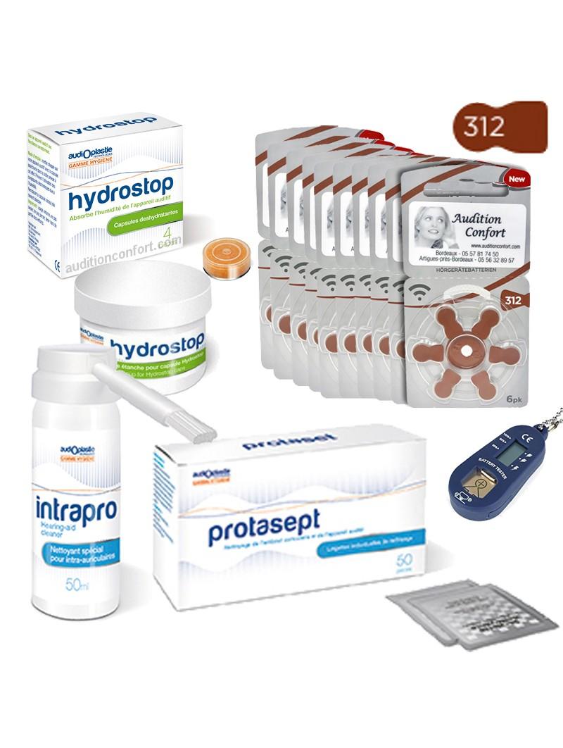 pack de piles 312 et produits pour appareils de type intra-auriculaire