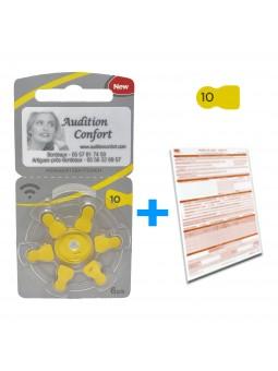 Pack Piles 10 rayovac pour appareil auditif et produits