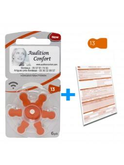 Pack Piles 13 rayovac pour appareil auditif et produits