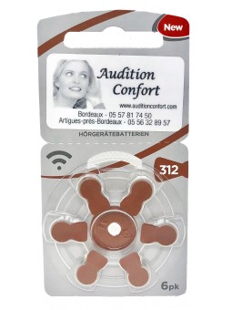 piles auditives 312 RAYOVAC pour appareil auditif