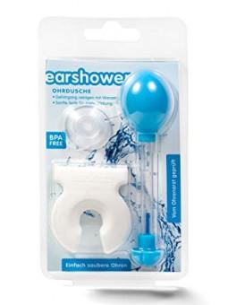 Nettoyage du conduit auditif avec poire de nettoyage ear shower