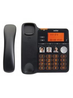 Téléphone filaire avec répondeur pour malentendant