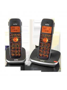 Téléphone sans fil à forte amplification 30/90 dB Vita Comfort D102 pack duo