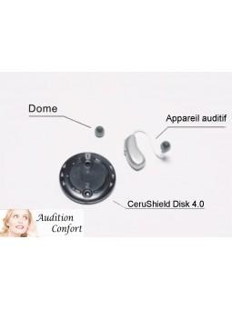 CeruShield Disk 4.0: Disque de 8 filtres pare cérumen pour appareils auditifs Unitron Discover