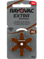 Rayovac Extra advanced piles 312 pour appareils auditifs